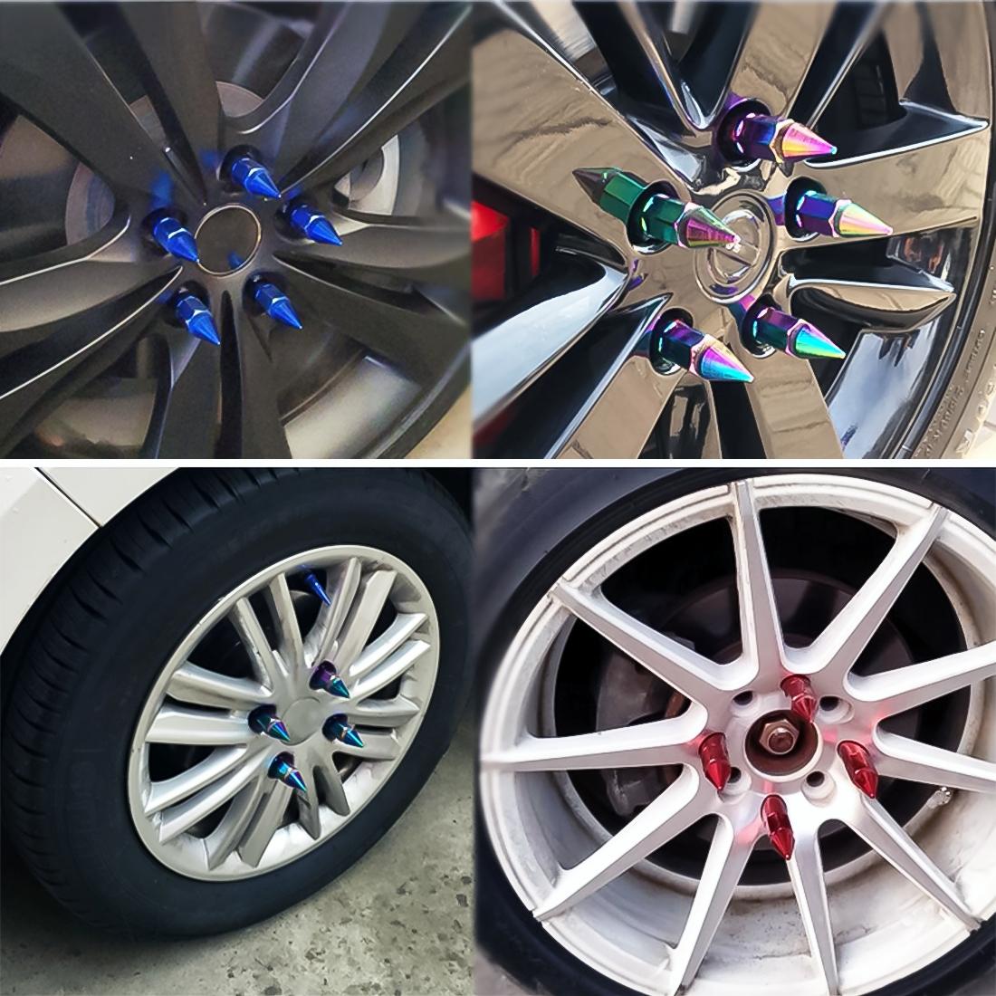 20 PCS Wheel Drive Hub Adaptor Car Wheel Nut Adjustable Decorative Steering Wheel Hub Nut