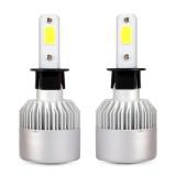 2 PCS H3 36W 4000LM 6500K 2 COB LED Waterproof IP67 Car Headlight Lamps, DC 9-32V (White Light)