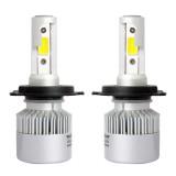 2 PCS H4 36W 4000LM 6500K 2 COB LED Waterproof IP67 Car Headlight Lamps, DC 9-32V (White Light)