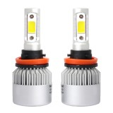 2 PCS H11 36W 4000LM 6500K 2 COB LED Waterproof IP67 Car Headlight Lamps, DC 9-32V (White Light)
