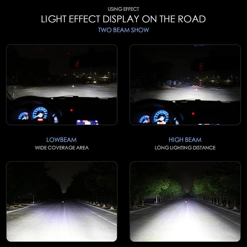 2 PCS H11 36W 4000LM 6500K 2 COB LED Waterproof IP67 Car Headlight Lamps, DC 9-32V (White Light)