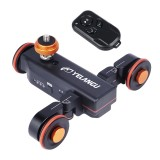 YELANGU L4X Camera Wheel Dolly II Electric Track Slider 3-Wheel Video Pulley Rolling Dolly Car with Remote Control for DSLR / Home DV Cameras, GoPro, Smartphones, Max Load: 3kg