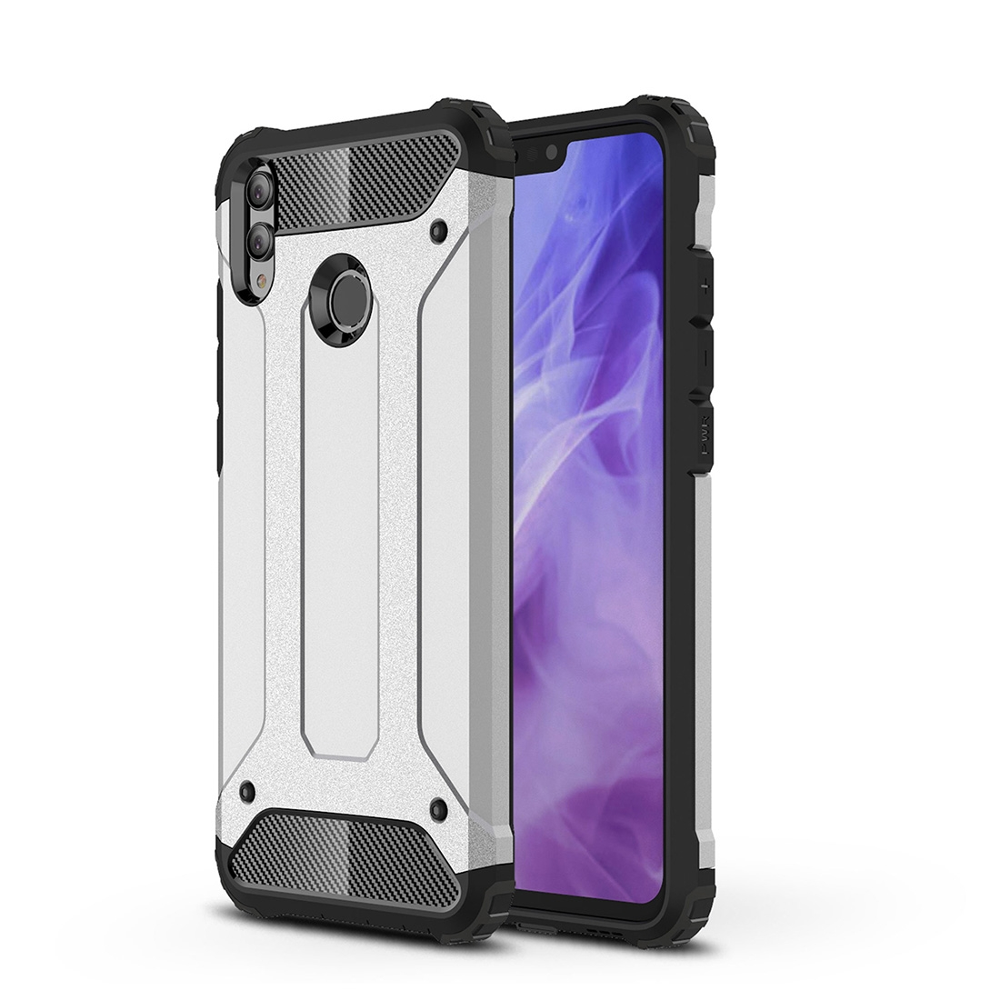 TPU + PC Armor Combination Back Cover Case for Huawei Honor 8X (Silver)
