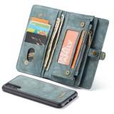 CaseMe-008 Detachable Multifunctional Horizontal Flip Leather Case for Huawei P20 Pro, with Card Slot & Holder & Zipper Wallet & Photo Frame (Blue)