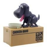 Creative Cartoon Edacious Puppy Automatic Money Eating Coin Saving Box, Gray Dog