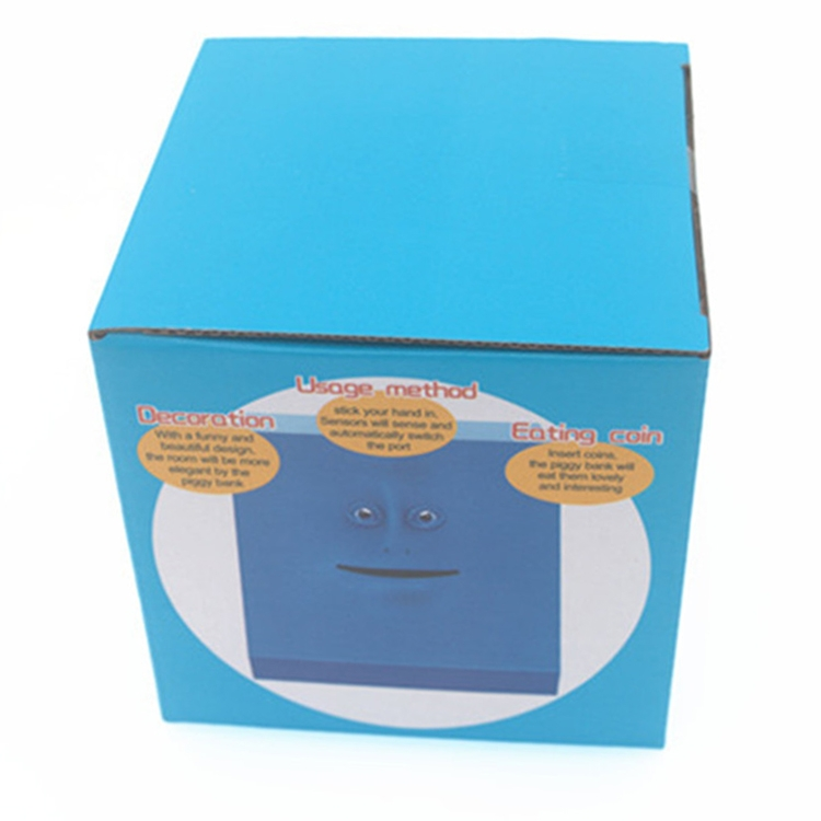 Face Bank Automatic Money Eating Box Coin Saving Box (Red)