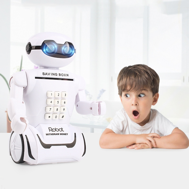 Multi-function Robot Piggy Bank Desk Lamp Code Money Box for Children