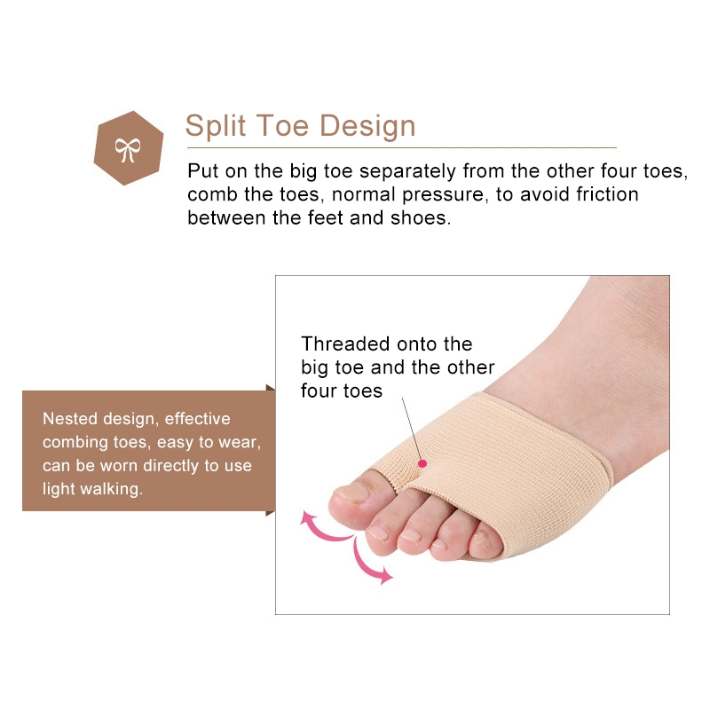 5 Pairs Threaded Thumb Valgus Care Foot Forefoot Thickened Super Soft Thumb Protector, Size: S
