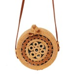 Circular Lace Style Autumn Rattan Handmade Rattan Bag Vintage Art Beach Ladies Diagonal Bag