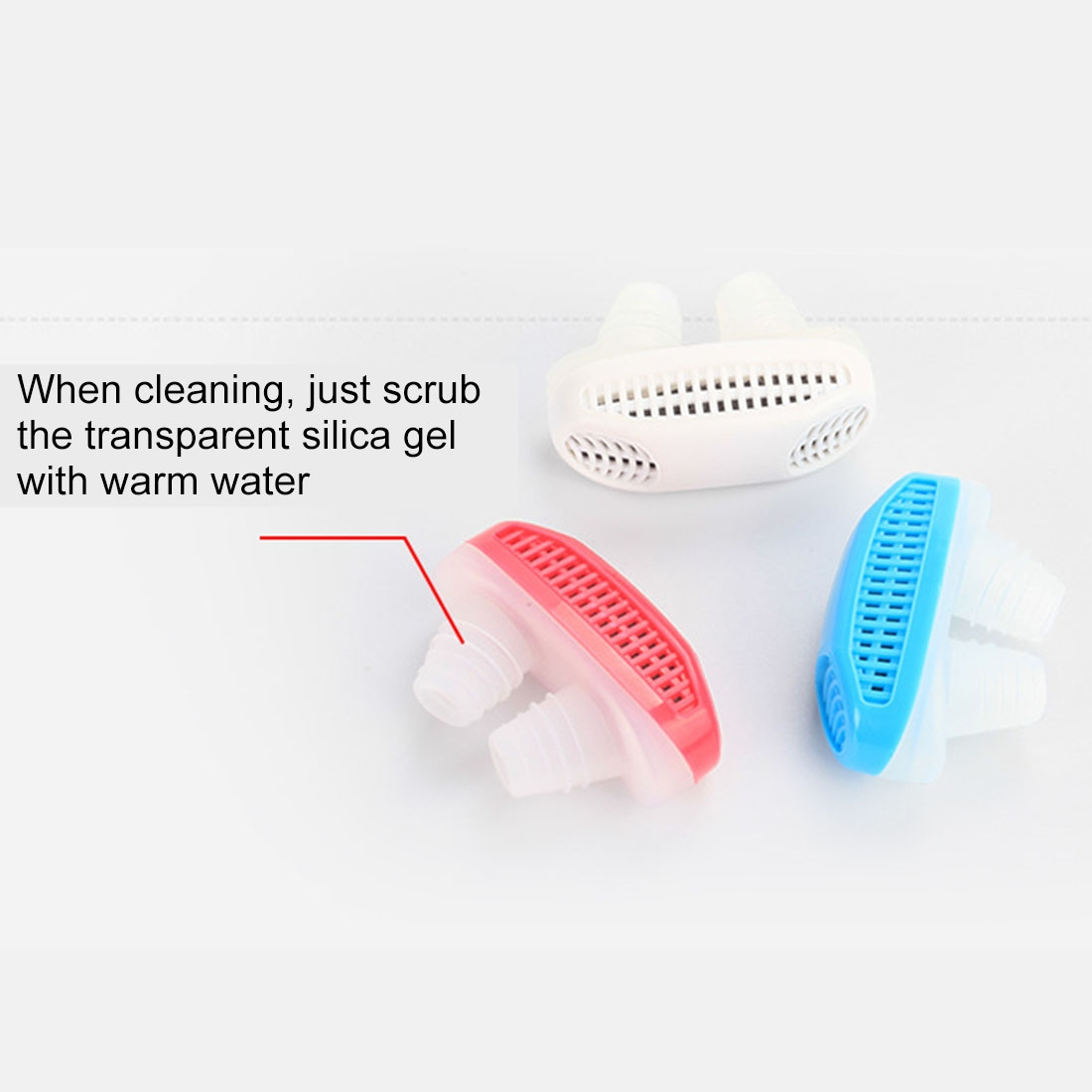 2 in 1 ABS Silicone Anti Snoring Air Purifier (White)