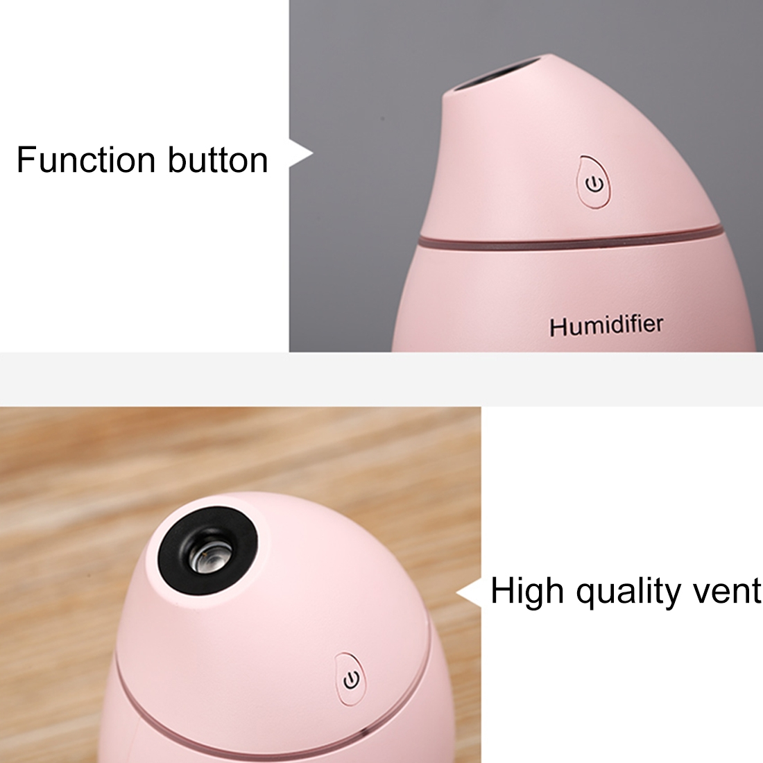 2W Creative Portable Mango Shape Mute Desktop Air Humidifier with LED Light, Capacity: 160ml, DC 5V (White)