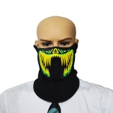 FG-MA-01 Halloween Mask Voice Control LED Cold Light Terror Cosplay Mask