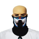 FG-MA-02 Halloween Mask Voice Control LED Cold Light Terror Cosplay Mask