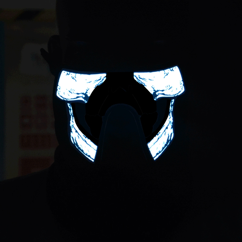 FG-MA-023 Halloween Mask Voice Control LED Cold Light Terror Cosplay Mask