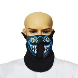 FG-MA-027 Halloween Mask Voice Control LED Cold Light Terror Cosplay Mask