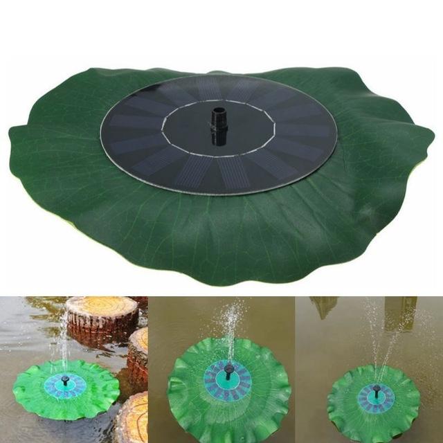 Solar Powered Water Pump Panel Kit Lotus Leaf Floating Pump Fountain Pool Garden Pond Watering Submersible Pumps