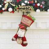 Christmas Ornament Decoration Santa Claus Merry Christmas Christmas Big Stocking Gift Bag Pendant
