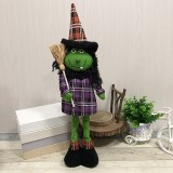Witch Style Halloween Decorations Ghost Festival Party Scenes Retractable Doll Decorations