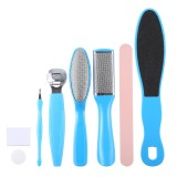 8 in 1 Dead Hard Skin Callus Remover Scraper Pedicure Rasp Tools Portable Cuticle Pusher Nail Foot Care Tool