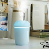 3 in 1 Multi-function USB Charge Mushroom Shape Electric Aroma Essential Ultrasonic Aromatherapy Cool Mist Humidifier with Extended USB Port (Blue)