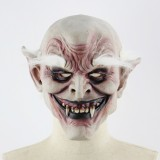 Halloween Festival Party Latex White-browed Monster Frightened Mask Headgear, with Hair