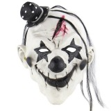 Halloween Festival Party Latex Devil Clown Frightened Mask Headgear, with Hair