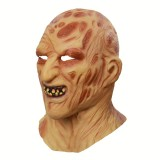 Halloween Festival Party Latex Burn Face Mask Skeleton Frightened Mask Headgear