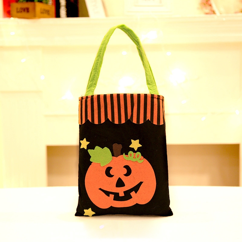 5 Pcs Halloween Decoration Creative Cartoon Candy Gift Square Tote