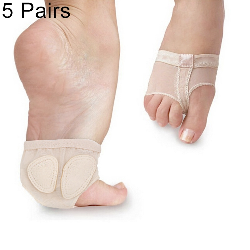 5 Paris Professional Belly Ballet Dance Toe Pad Practice Shoes Forefoot Pads Socks Anti-slip Breathable Toe Socks Sleeve, Size: M (37-38 Yards) (Flesh Color)
