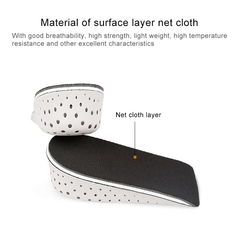 5 Paris Heighten Heel Insert Shoes Pad Cushion Arch Height Increase Half Insole, Height: 2cm