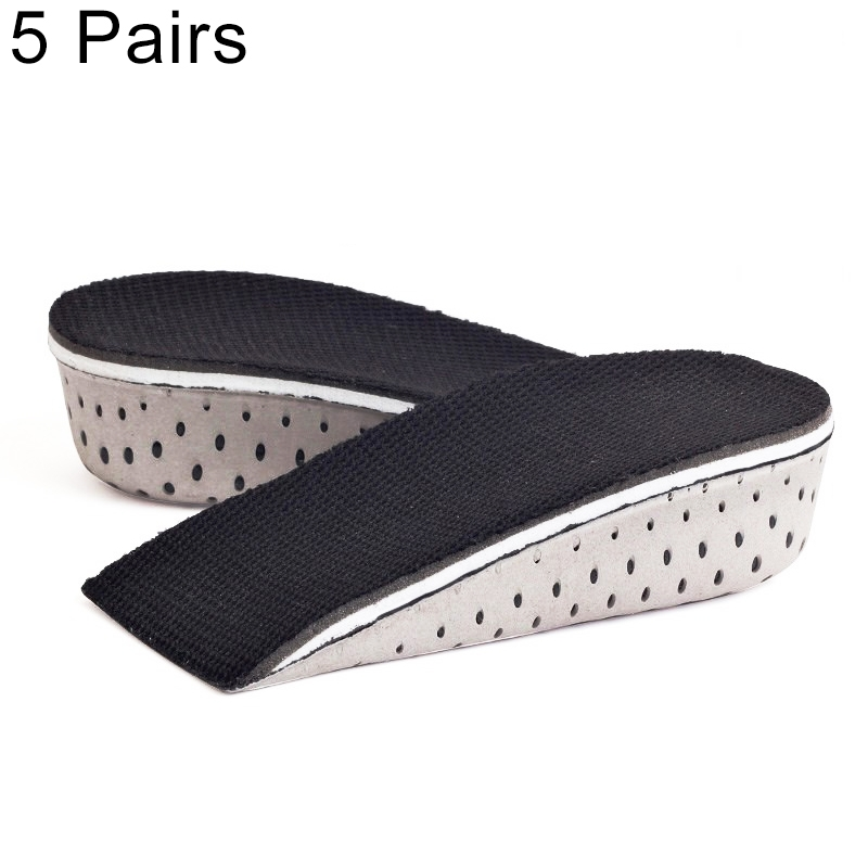 5 Paris Heighten Heel Insert Shoes Pad Cushion Arch Height Increase Half Insole, Height: 3cm