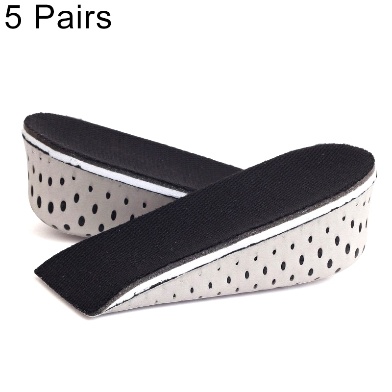 5 Paris Heighten Heel Insert Shoes Pad Cushion Arch Height Increase Half Insole, Height: 4cm