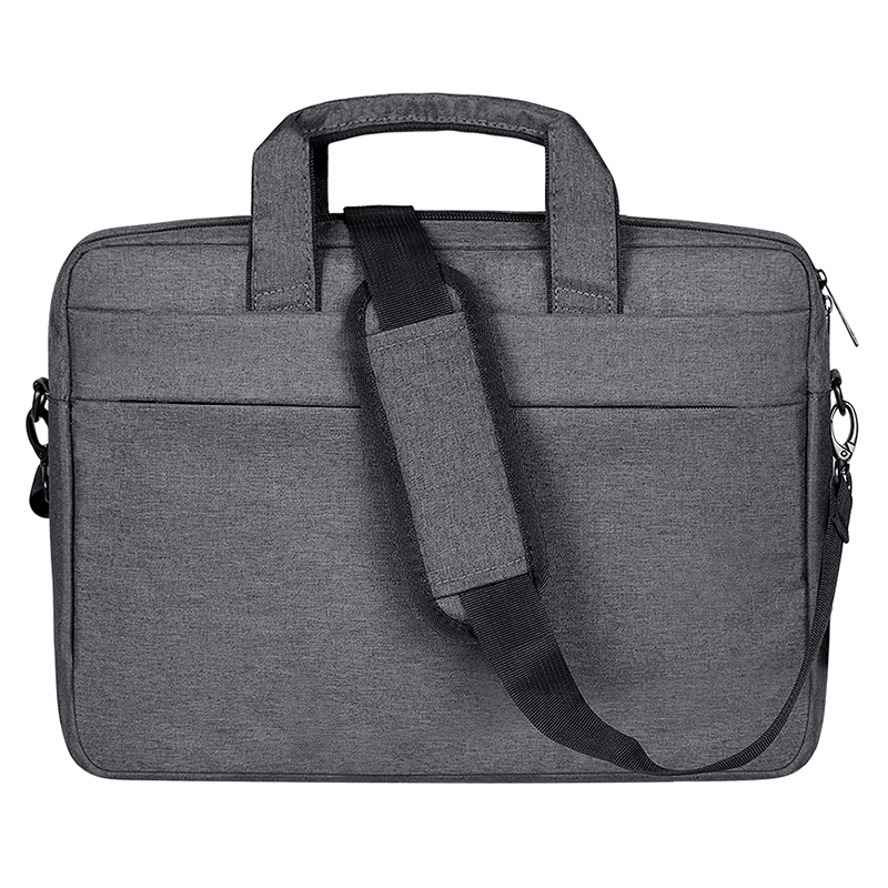 Breathable Wear-resistant Thin and Light Fashion Shoulder Handheld Zipper Laptop Bag with Shoulder Strap, For 14.0 inch and Below Macbook, Samsung, Lenovo, Sony, DELL Alienware, CHUWI, ASUS, HP (Dark Grey)