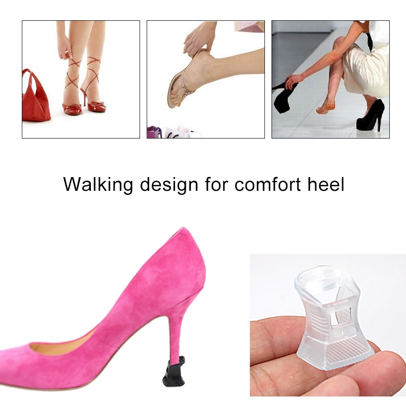 5 Pairs Hard Wearing Anti-slip PVC StoppersShoes High Heel Cover Protectors, Size: M, Random Color