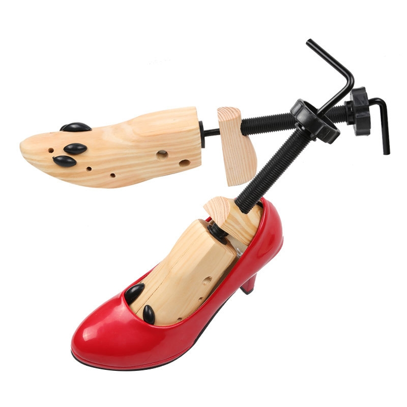 Pine Wood Unisex Fixed Fits Support Stretcher Shaper Shoes Expander, Size: L?42-46Yards?