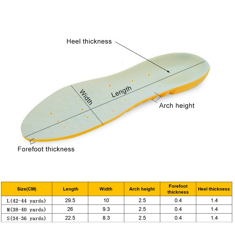 1 Pair Stretch Breathable Absorbent Deodorant Sports Tourism And Leisure Comfort Cushioning Insole, Size: S (34-36Yards)