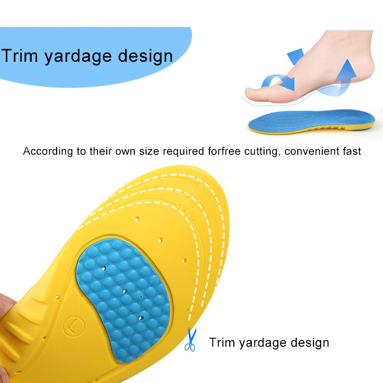 1 Pair Stretch Breathable Absorbent Deodorant Sports Tourism And Leisure Comfort Cushioning Insole, Size: L (42-44Yards)