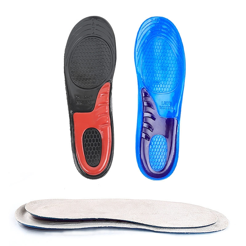 1 Pair Military Training Shock Resistance Sports Insoles Soft and Comfortable Stretch Thick Insoles, Size: M (38-42 Yards) (Blue)