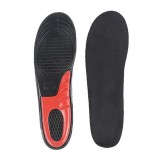 1 Pair Military Training Shock Resistance Sports Insoles Soft and Comfortable Stretch Thick Insoles, Size: L (43-46 Yards) (Black)