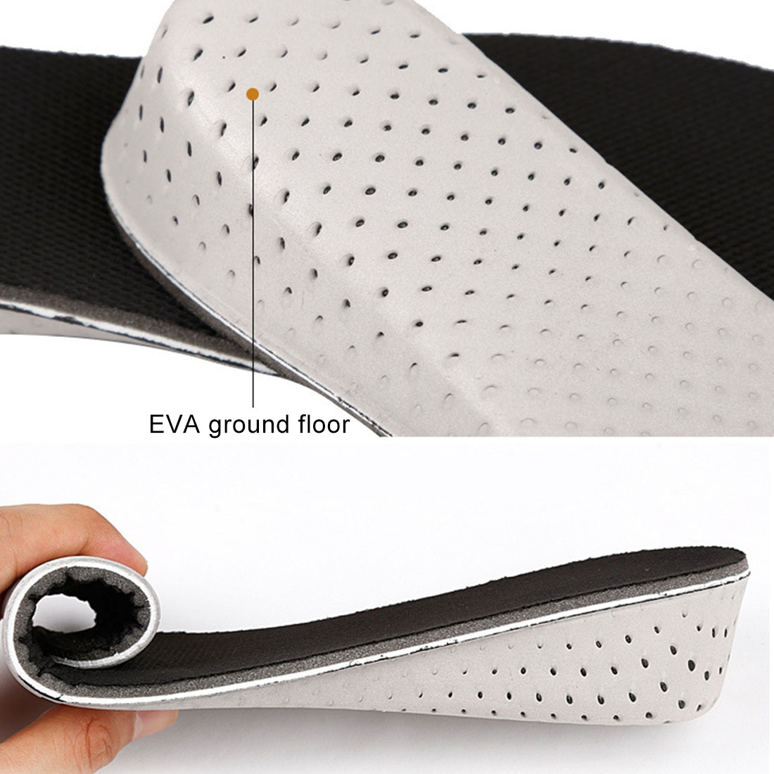 1 Pair EVA Breathable Insert Shoes Height Increase Insoles, Height: 4cm