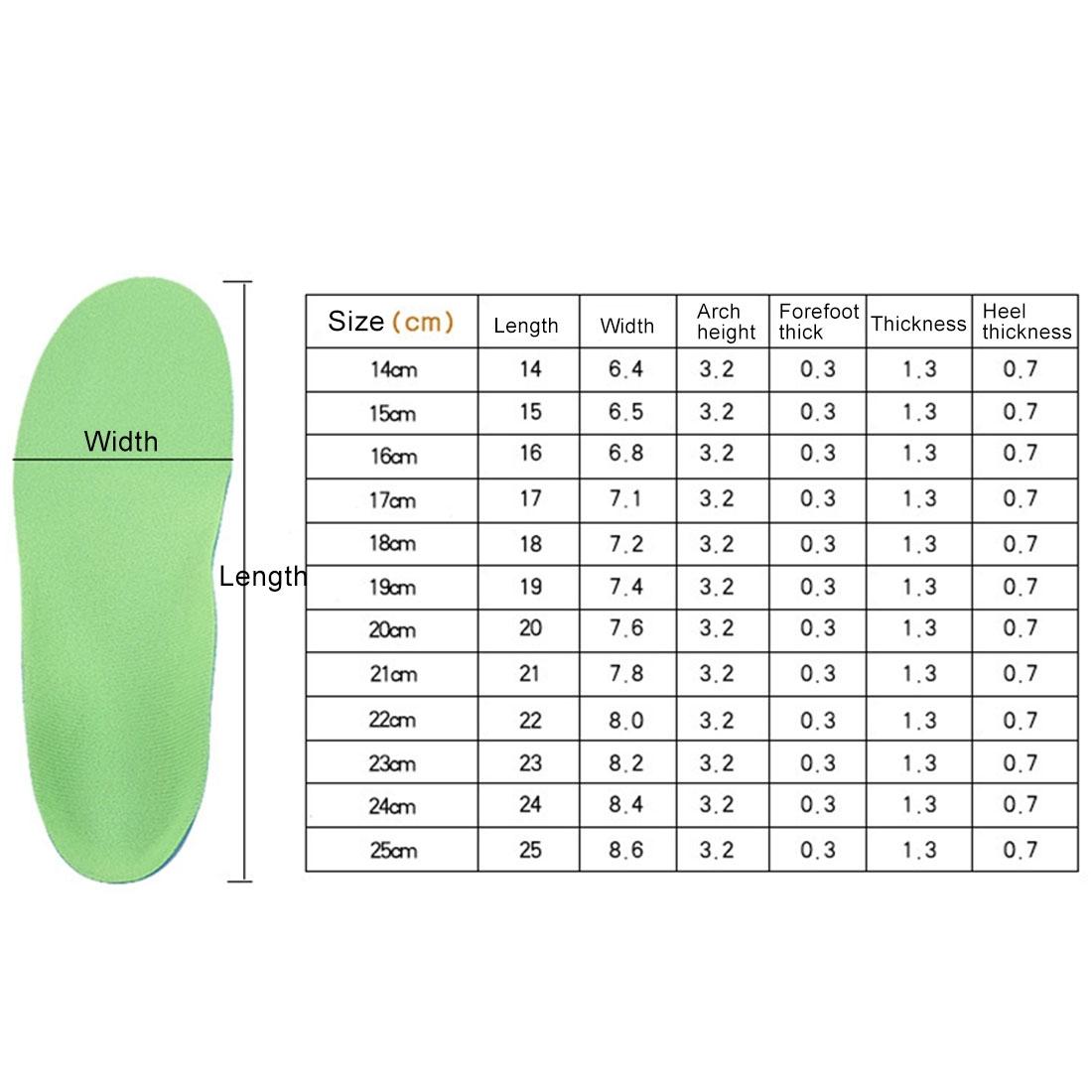 Children PU XO Leg Corrective Insole, Size: 25cm