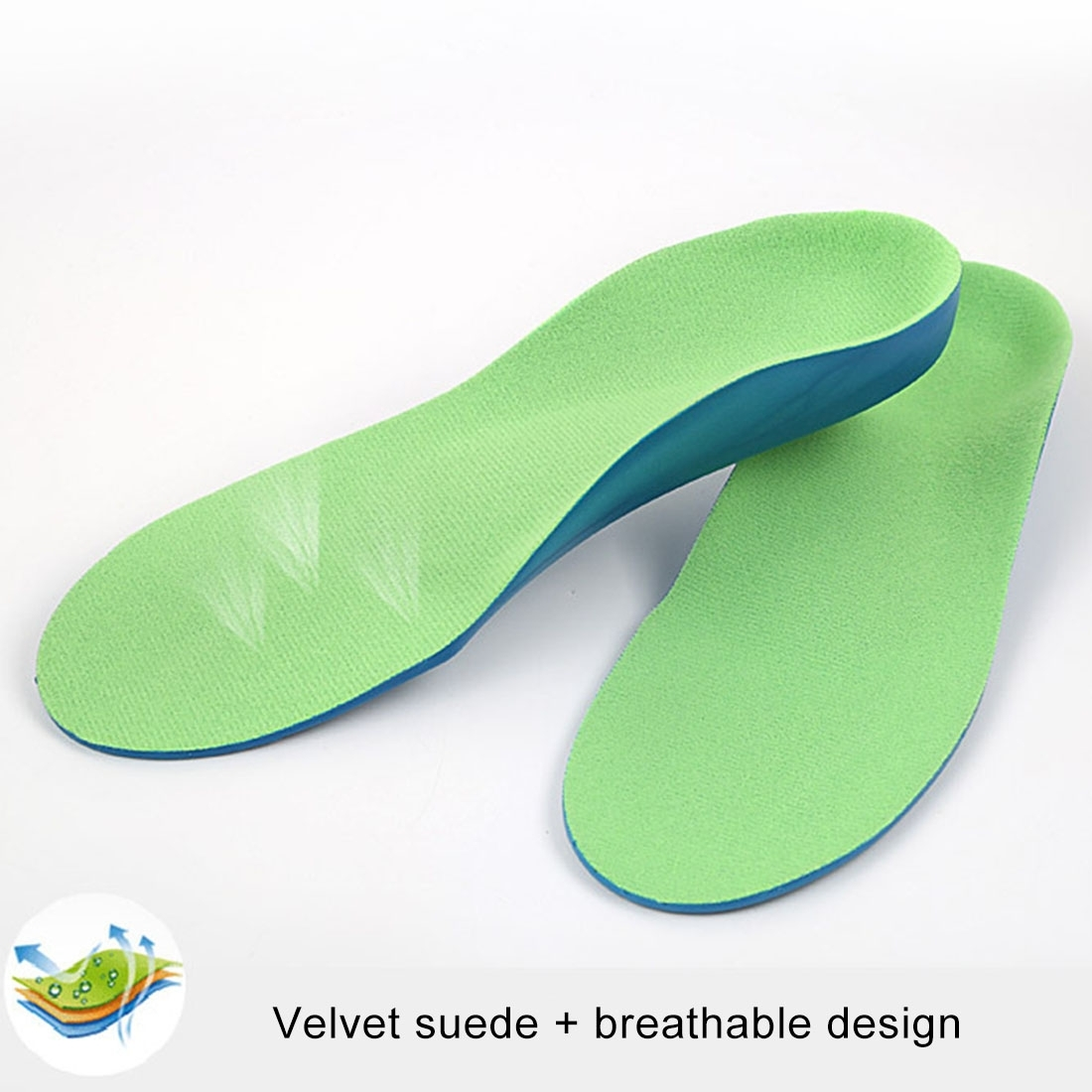 Children PU XO Leg Corrective Insole, Size: 19cm