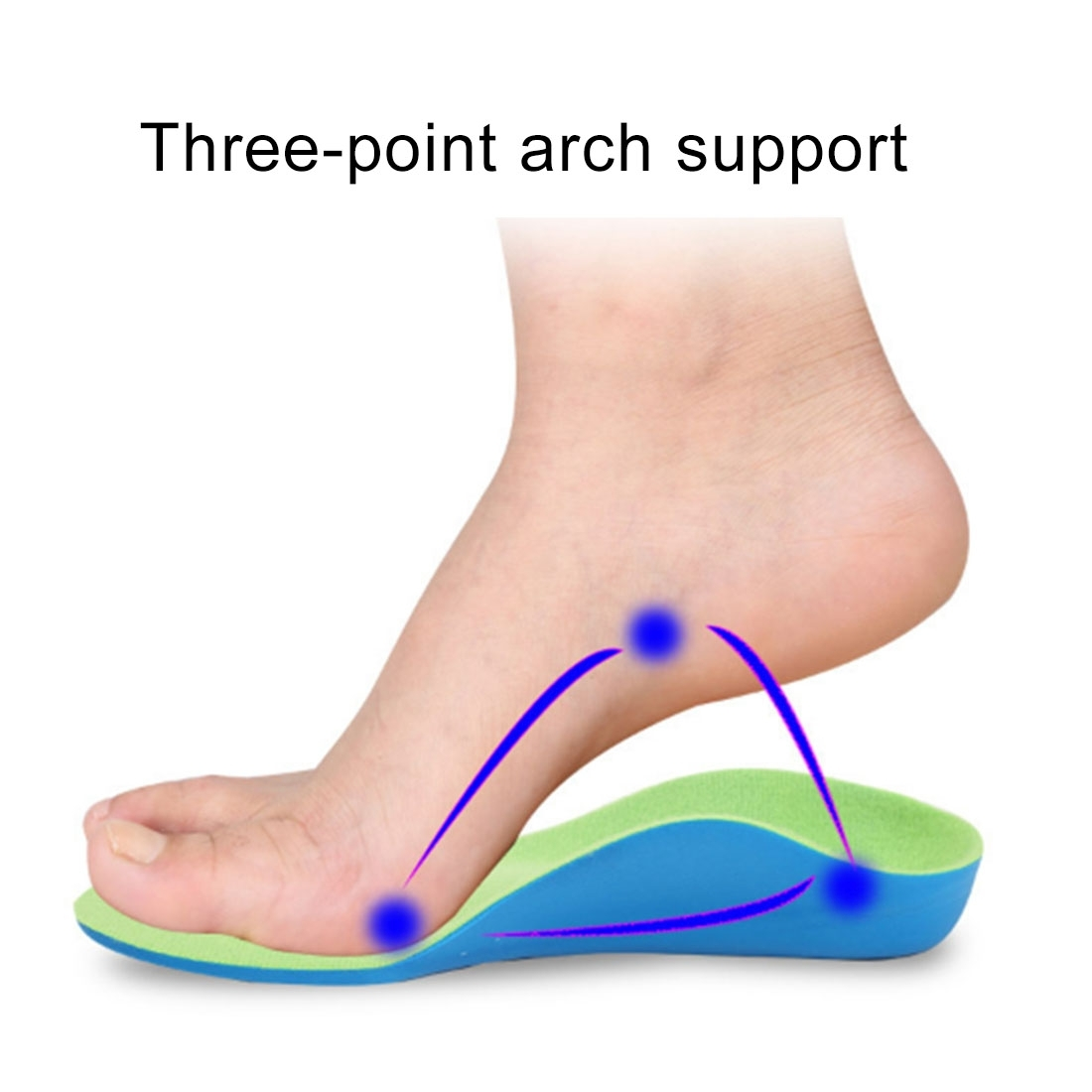 Children PU XO Leg Corrective Insole, Size: 21cm