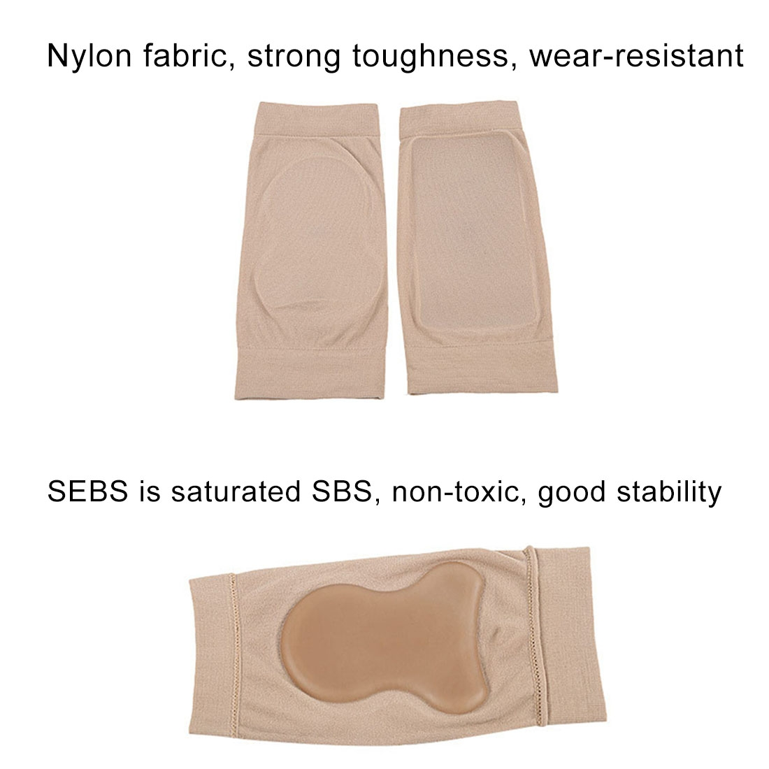 SEBS Anti-Cracking Ankle Protection Socks Bandage Protective Sleeve, Single SEBS Short Style