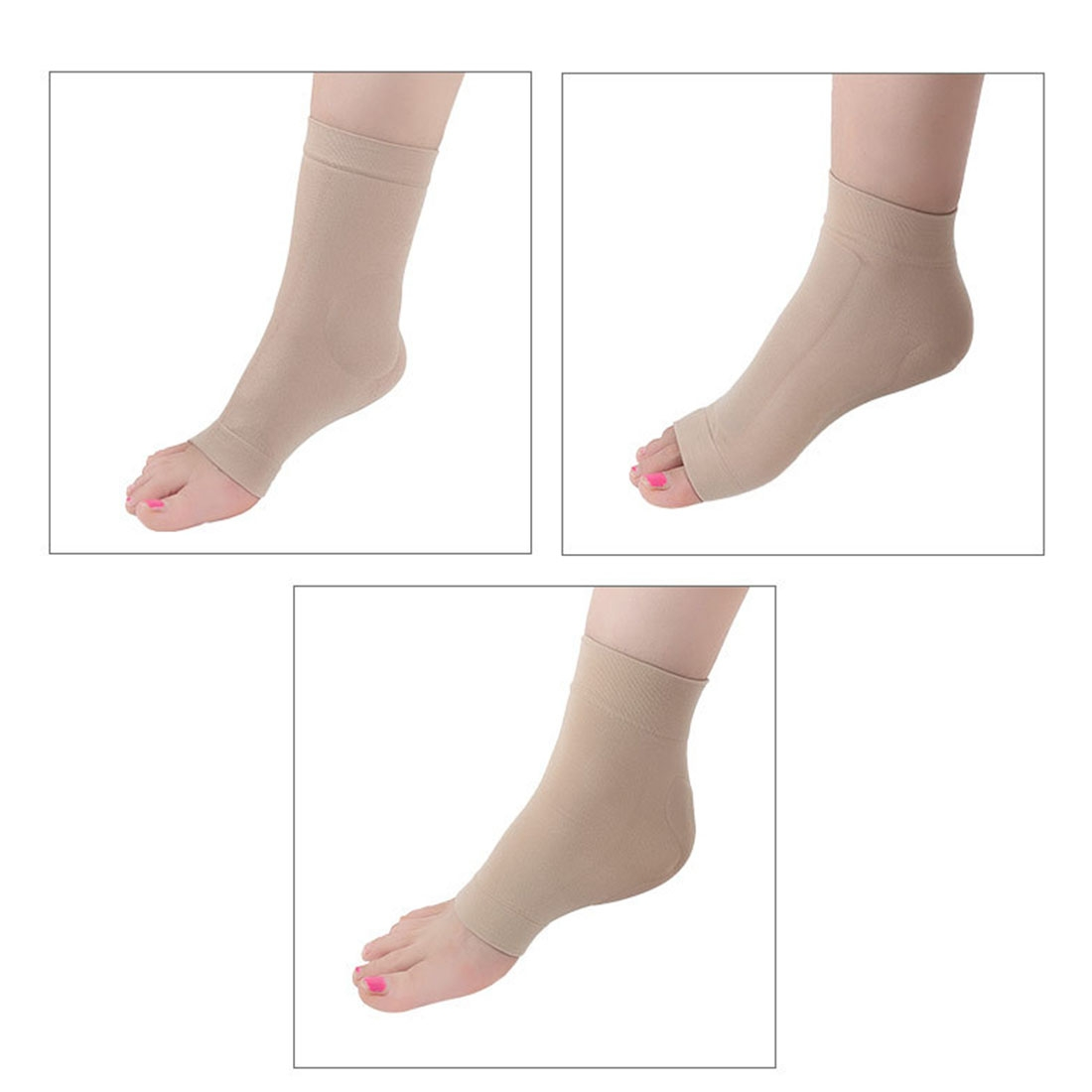 SEBS Anti-Cracking Ankle Protection Socks Bandage Protective Sleeve, Double SEBS Long Style