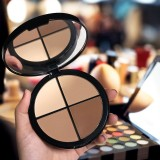 MAYCHEER V-Line Face 4 Colors Facial Makeup Highlighter Bronzer Shading Powder Palette Cosmetic (Brown)