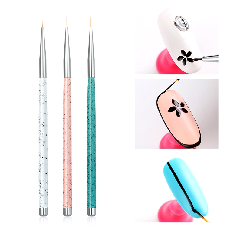 3PCS Nail Drawing Pen Dotting Tools Drawing Pen Carved Tool Nail Art Accessories Brushes Nail Pencil Set