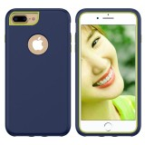 3 in 1 Solid Color Combination Case for iPhone 8 Plus & 7 Plus & 6 Plus (Navy Blue)