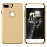 3 in 1 Solid Color Combination Case for iPhone 8 Plus & 7 Plus & 6 Plus (Gold)