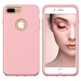 3 in 1 Solid Color Combination Case for iPhone 8 Plus & 7 Plus & 6 Plus (Rose Gold)